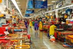 Mercato ittico dell'interno di Jagalchi, Busan, Corea Fotografia Stock Libera da Diritti