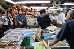 Mercato ittico di Tokyo Fotografia Stock Libera da Diritti