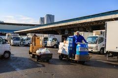 Mercato ittico di Tsukiji Fotografia Stock Libera da Diritti
