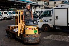 Mercato ittico di Tsukiji, Tokyo, Giappone Fotografia Stock