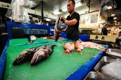 Mercato ittico editoriale di Tokyo Fotografia Stock