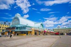 Mercato ittico famoso a Gothenburg del centro Fotografia Stock Libera da Diritti