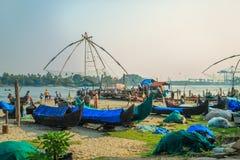Mercato ittico, il Kochi forte, stato del Kerala, India del sud Immagine Stock Libera da Diritti