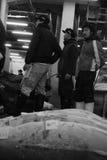 Mercato ittico, Tokyo, Giappone, mattina fotografia stock