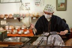 Mercato Kyoto Giappone dell'alimento di Nishiki Fotografie Stock Libere da Diritti