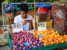 Mercato locale a Chinatown a Manila, Filippine Fotografie Stock