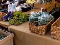Mercato locale del ` s dell'agricoltore Fotografia Stock Libera da Diritti
