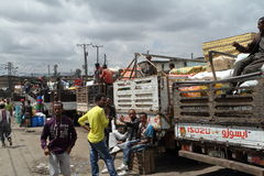The Mercato market of Addis Ababa. People at the Mercato market of Addis Ababa Stock Photography