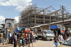 The Mercato market of Addis Ababa. People at the Mercato market of Addis Ababa Royalty Free Stock Photos
