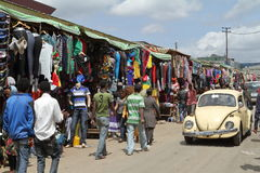 The Mercato market of Addis Ababa Royalty Free Stock Photos