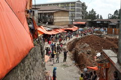 The Mercato market of Addis Ababa Stock Image