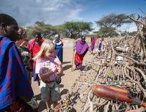 Mercato masai Immagine Stock