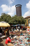 Mercato masai a Nairobi Immagini Stock Libere da Diritti