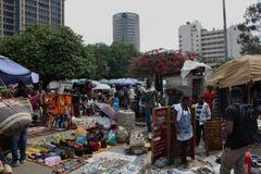 Mercato masai a Nairobi Immagini Stock