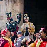 Mercato medievale annuale a Orihuela spain fotografia stock