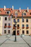 Mercato nella città di Jelenia Gora Fotografie Stock