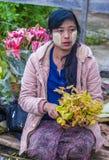 Mercato nello Stato Shan Myanmar Fotografie Stock Libere da Diritti