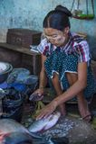 Mercato nello Stato Shan Myanmar Fotografie Stock
