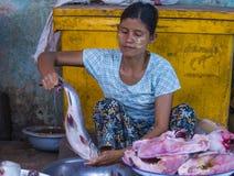 Mercato nello Stato Shan Myanmar Immagine Stock