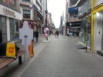 Mercato occupato del myeongdong a chuncheon Immagini Stock Libere da Diritti