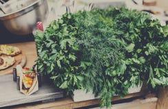 Mercato organico dell'alimento degli agricoltori, pianta fresca Fotografia Stock Libera da Diritti