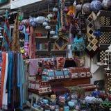 Mercato orientale tradizionale del bazar in Turchia, Adalia fotografia stock libera da diritti