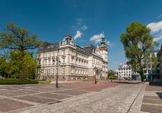 Mercato prima municipio in Bielsko-Biala, Polonia Immagine Stock Libera da Diritti