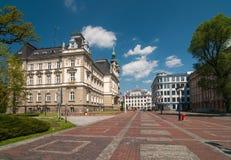 Mercato prima municipio in Bielsko-Biala, Polonia Immagine Stock