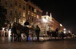 Mercato principale a Cracovia Immagini Stock Libere da Diritti