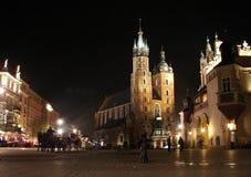 Mercato principale a Cracovia Immagine Stock Libera da Diritti