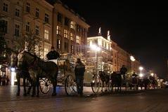 Mercato principale a Cracovia Fotografia Stock