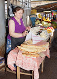 Mercato, Rustawi, Georgia, Europa Fotografie Stock Libere da Diritti