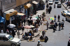 Mercato Sanaa, Yemen Fotografia Stock