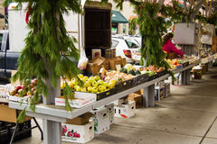 Mercato storico degli agricoltori di Roanoke Fotografie Stock