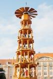 Mercato Striezelmarkt di Natale Dresda, Germania Celebrazione del Natale in Europa Immagini Stock Libere da Diritti