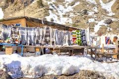 Mercato sulla radura di Azau fotografia stock libera da diritti