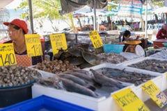 Mercato tailandese dei frutti di mare Fotografia Stock
