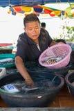 Mercato tailandese dei frutti di mare Immagine Stock