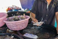 Mercato tailandese dei frutti di mare Immagine Stock Libera da Diritti