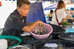 Mercato tailandese dei frutti di mare Fotografia Stock Libera da Diritti