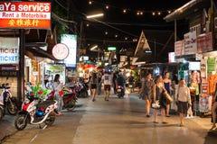 Mercato tailandese di notte Immagine Stock