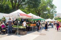 Mercato Union Square NYC degli agricoltori di Greenmarket Fotografia Stock Libera da Diritti