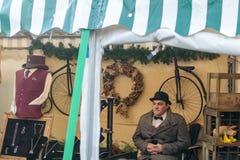 Mercato vittoriano di Natale - banchine 35 di Gloucester Fotografia Stock Libera da Diritti