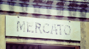 Mercato writing in vintage tone Stock Photo