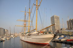 Mercator sail ship. Mercator, former school ship for Belgian Navy. Photo taken in Oostende, Belgium Stock Photography