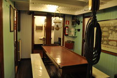Mercator school ship, interior. The interior of Mercator school ship. Mercator was the former school ship for Belgian Navy. Now is a museum and can be visited Stock Image
