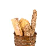 Merce nel carrello croccante fresca delle baguette Immagini Stock