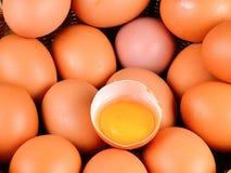 Merce nel carrello cruda delle uova Immagine Stock Libera da Diritti