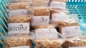 Merce nel carrello dei sacchetti di plastica di Porpieng Fotografie Stock Libere da Diritti