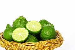 Merce nel carrello della frutta del bergamotto Immagine Stock